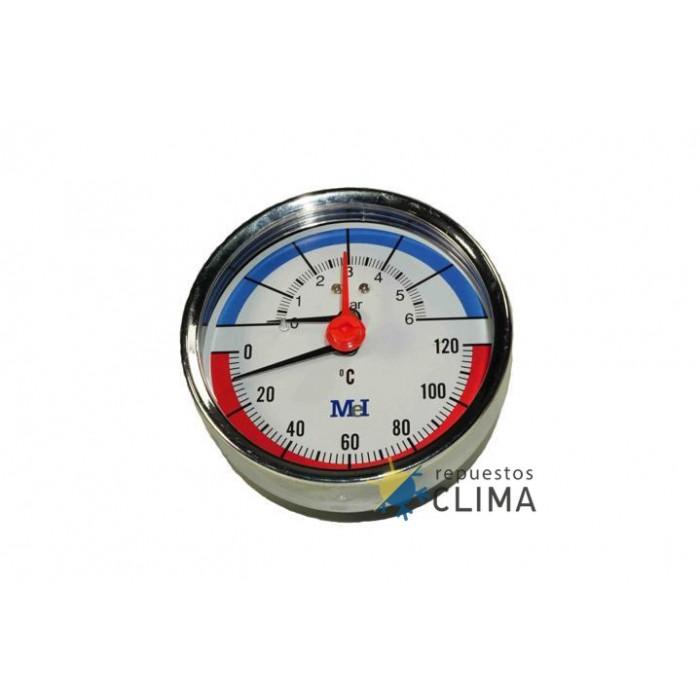 Manotermometro O80 Horizontal 1 2 0 6 Bar 0 120ºc En pce instruments encontrará el termómetro que mejor se ajuste a sus necesidades. repuestos clima